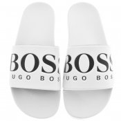 BOSS Athleisure Solar Sliders White